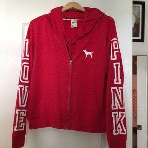 Pink Victoria secret zipper jacket